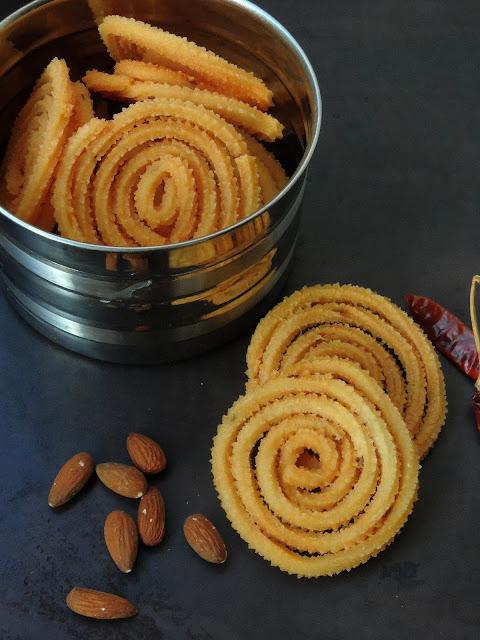 Spicy Almond Murukku, Badam Murukku