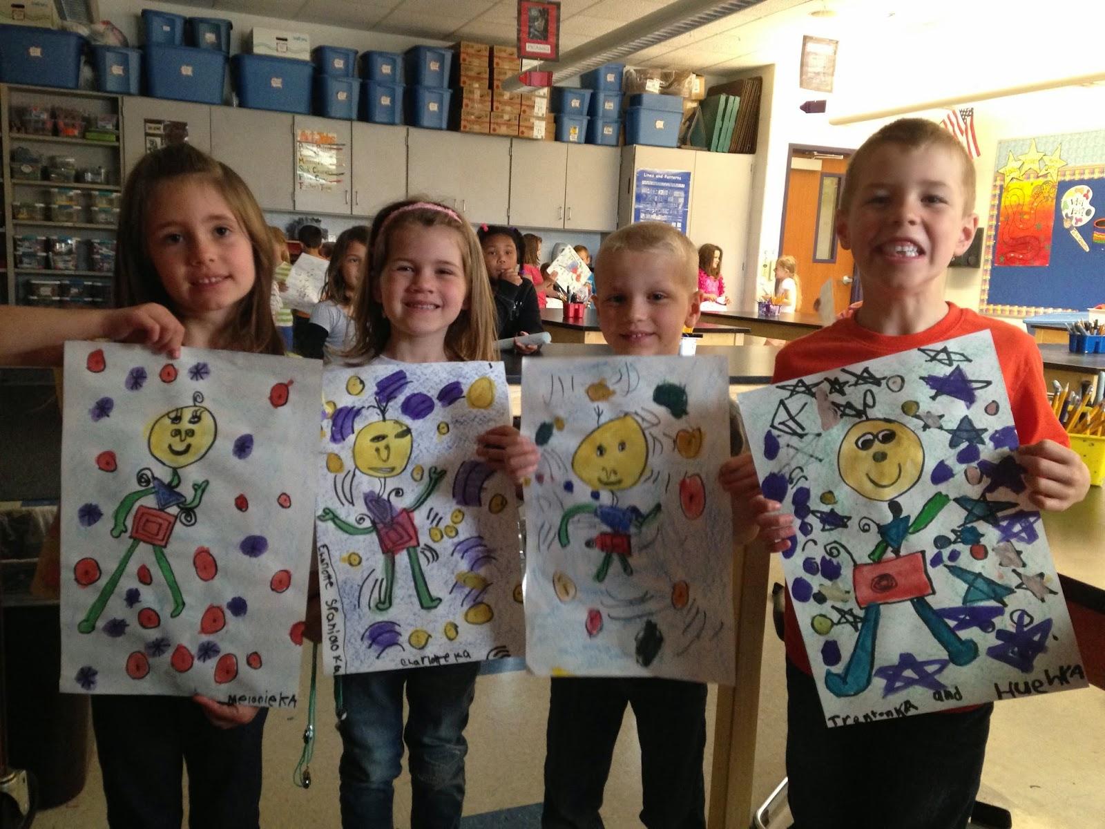 Jamestown Elementary Art Blog Kindergarten Takes On Joan Miro