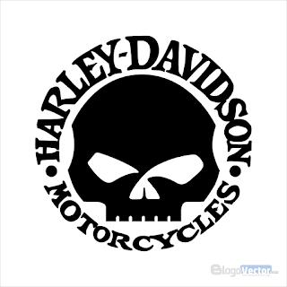 Harley Davidson skull Logo vector (.cdr)