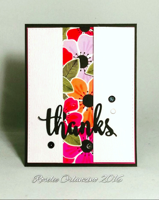 Flashy Florals Card Kit - Roselee Orlanzino #mftstamps