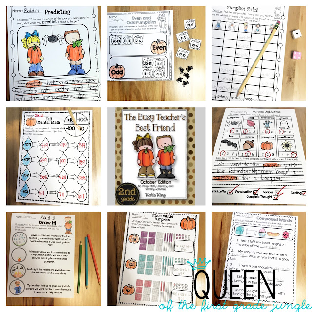 October Easy Prep Ideas - Queen of the First Grade Jungle
