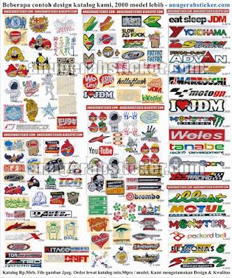 Contoh katalog sticker