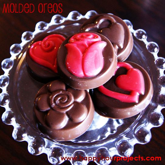 Chocolate Molded Oreos - Happy Hour Projects