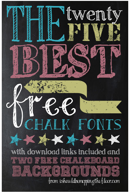 Free Halloween Fonts | 25 of the Best Free Chalk Fonts, too!