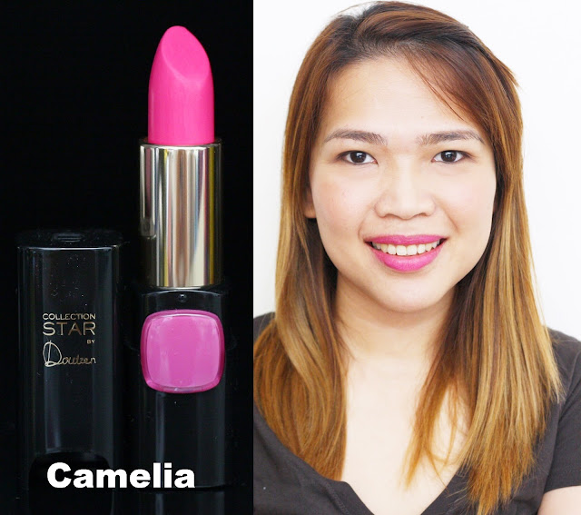 a photo of L'Oreal Color Riche Collection Star Velvet Pinks in Camelia