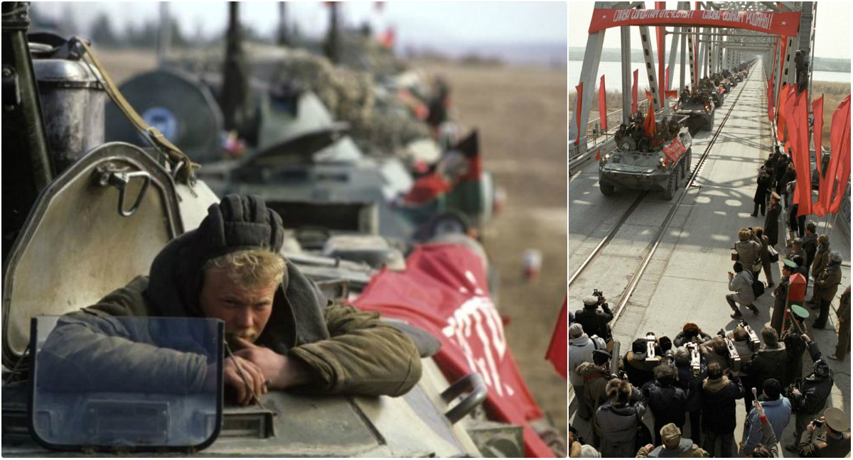 Photos of Soviet Withdrawal From Afghanistan in 1989
