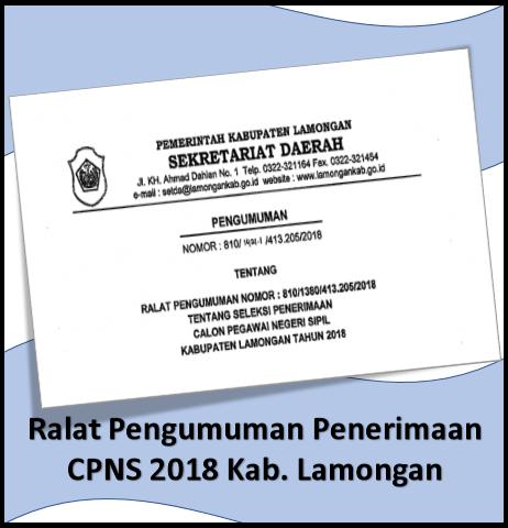 Ralat Pengumuman Penerimaan CPNS 2018 Kab. Lamongan