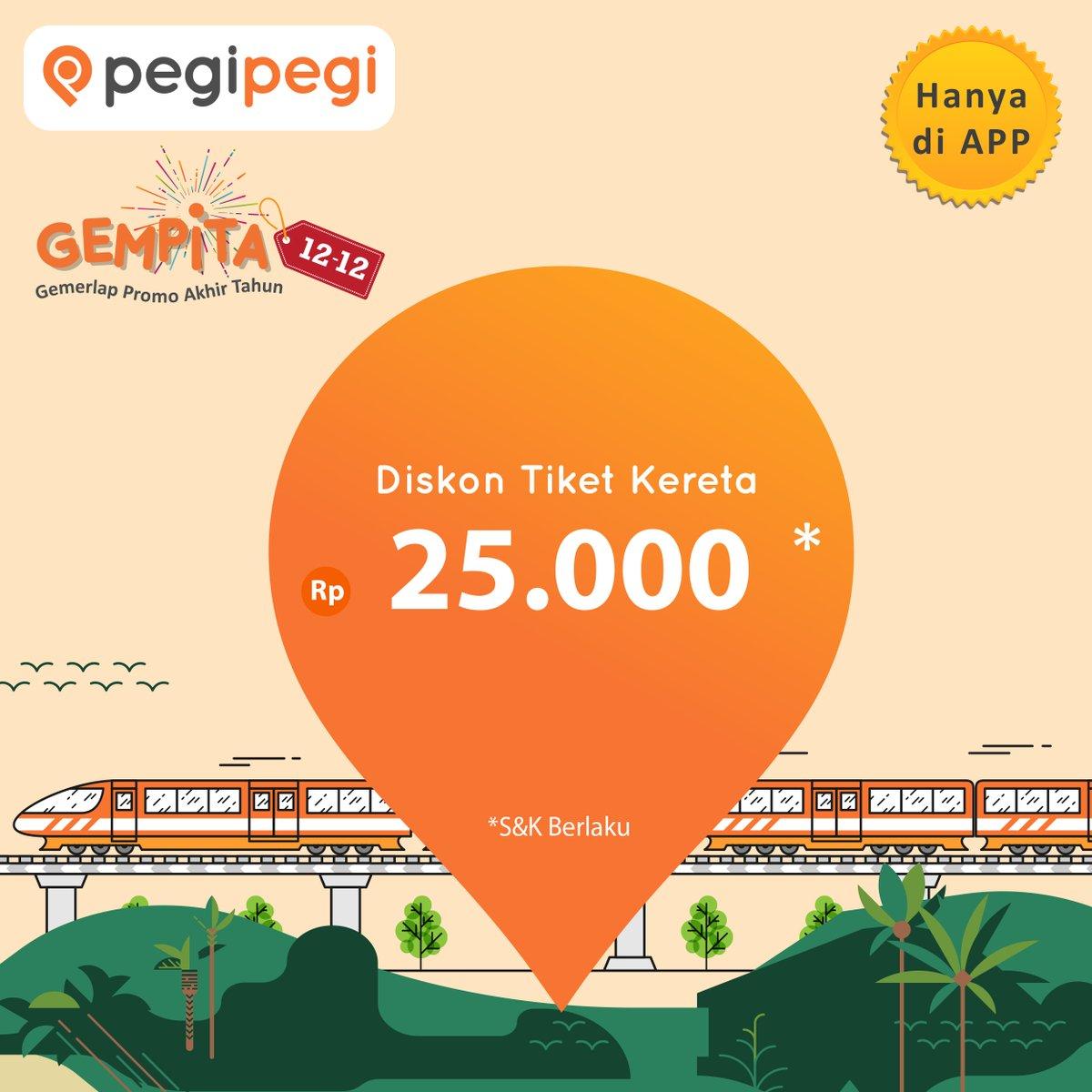 PegiPegi - Promo Diskon 25K Tiket KAI Pakai Aplikasi (s.d 20 Des 2018)