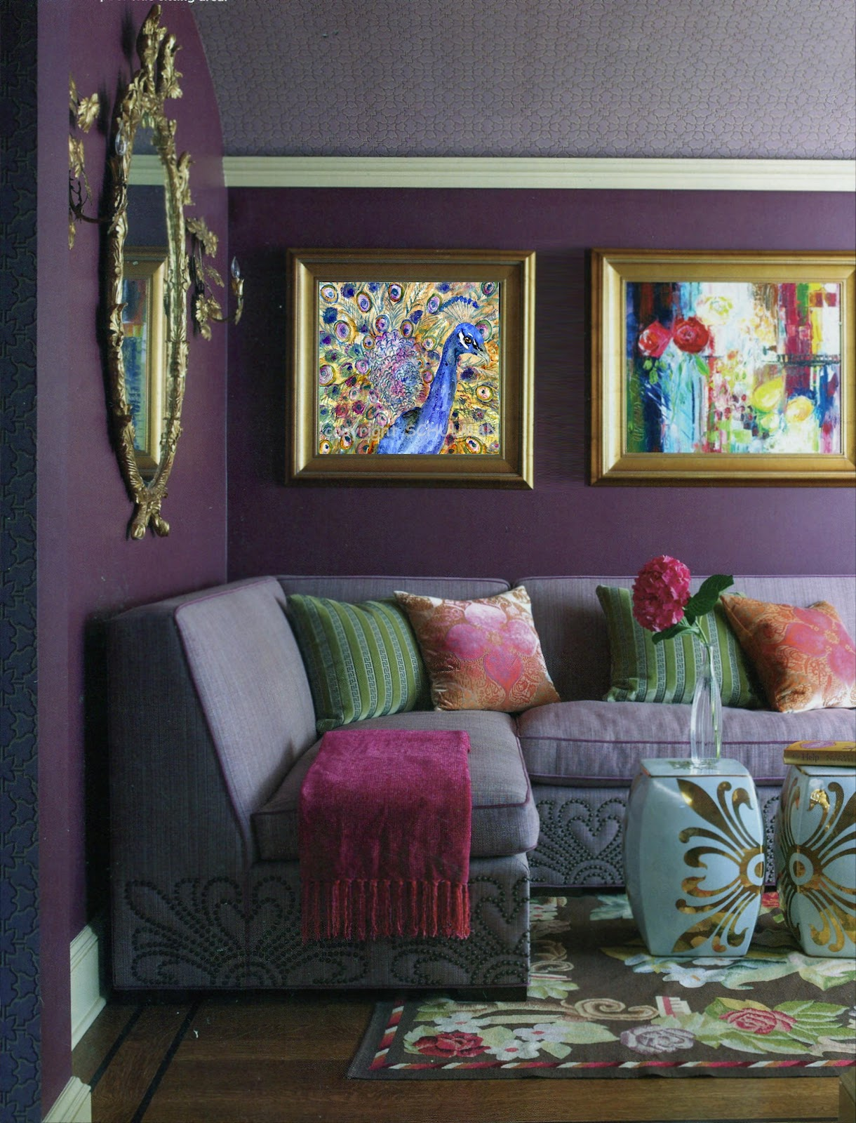 Peacock Bedroom Decorating Ideas Art Blog For The Inspiration Place Passionate Purple