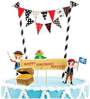 Boys Pirate Party Mini Cake Decorating Kit