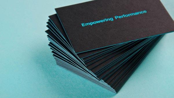 Business Card Design 10 Neon Business Card Designs