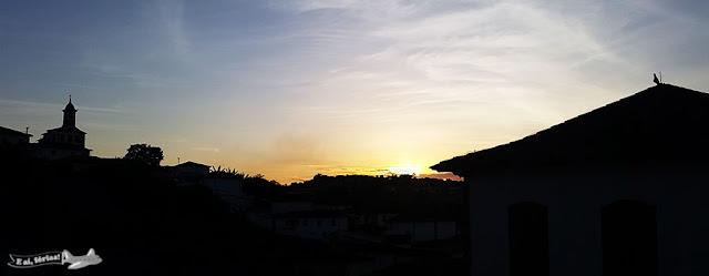 Centro Histórico, Serro, Minas Gerais, Caminho dos Diamantes, Estrada Real, Igreja do Rosário, Por do Sol