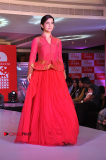 South Indian Celebrities Pos at Love For Handloom Collection Fashion Show  0116.jpg