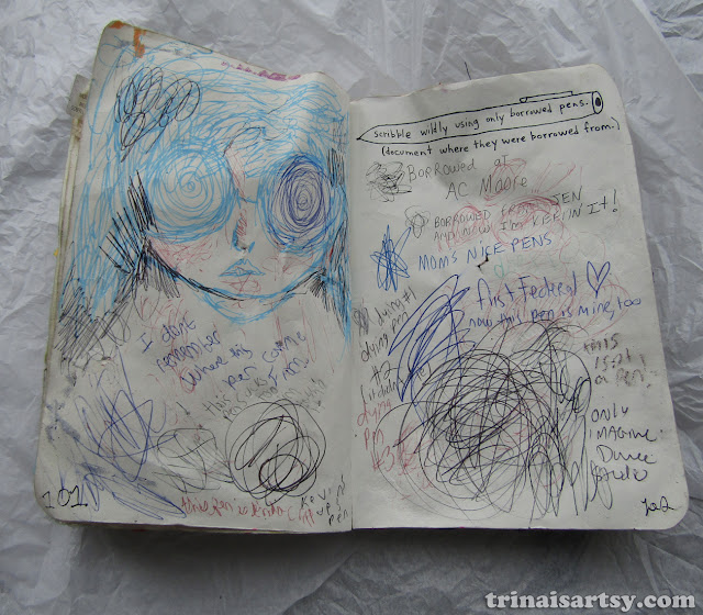 Wreck this Journal -  Scribble wildly with borrowed pens