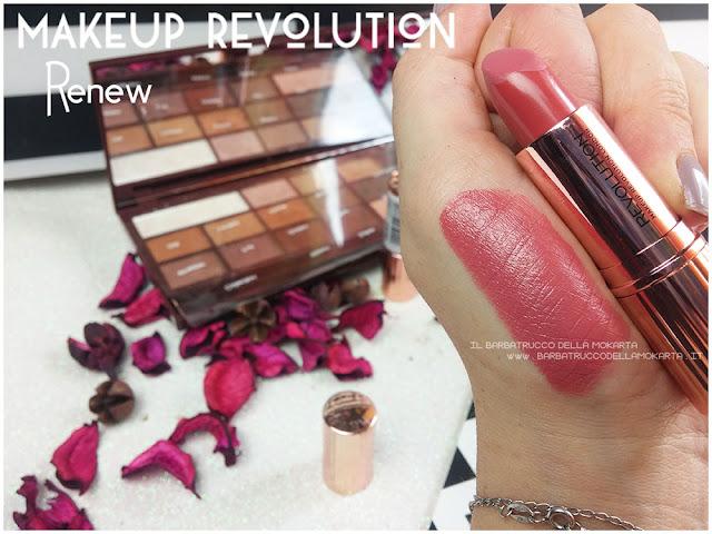 renew swatches lipstick Rossetto Renaissance  makeup revolution