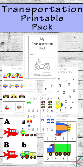 Transportation Worksheets for Kids