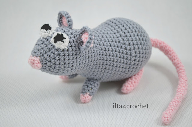 szczur amigurumi szydełko crochet rat