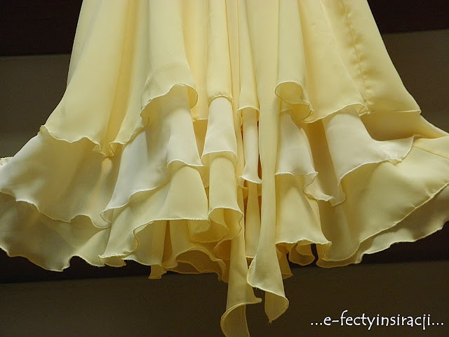 sukienka dla dziewczynki z koła, trzywarstwowa jak uszyć