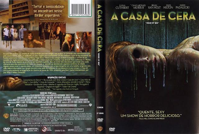 Capa DVD A Casa De Cera