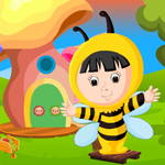 G4K Cute Bee Girl Rescue Game