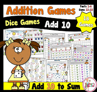 Addition Dice Games ADD 10 More
