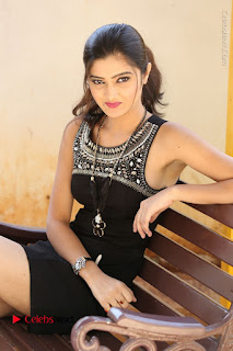 Actress Poojitha Pallavi Naidu Stills in Black Short Dress at Inkenti Nuvve Cheppu Movie Platinum Disc Function  0202.JPG