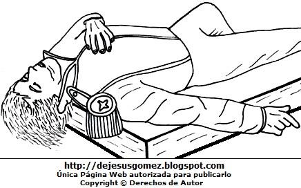 Dibujo: Muerte de José María Córdova para colorear o pintar. José María Córdova hecho por Jesus Gómez