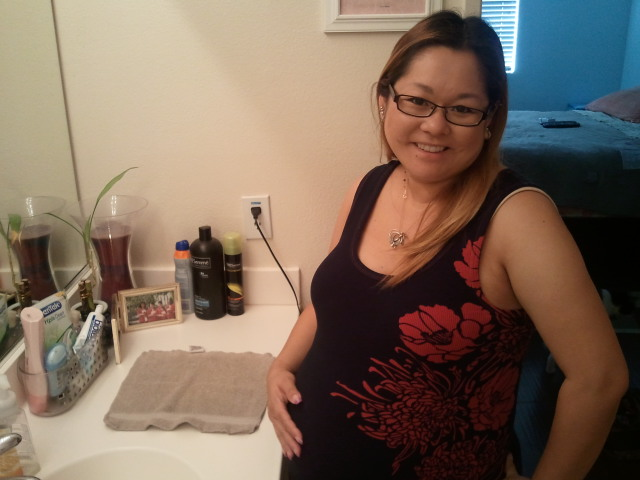Recent pictures of me (9 months pregnant--39 weeks and 2 days)