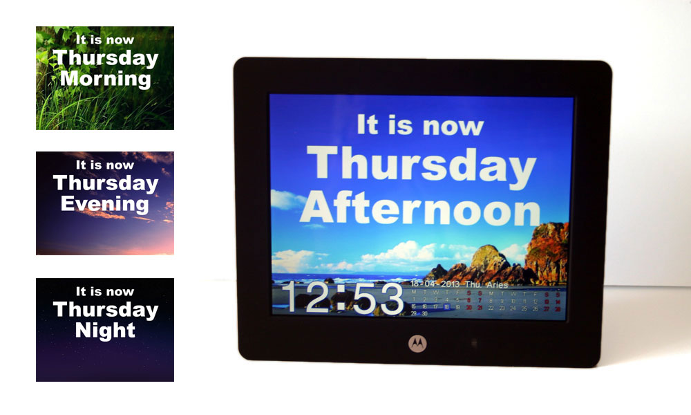 Create A Dementia Day Clock Using A Digital Photo Frame Day Clock