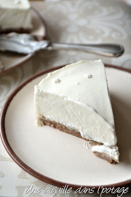 Cheese-cake à la crème vanille-citron et poires sans cuisson