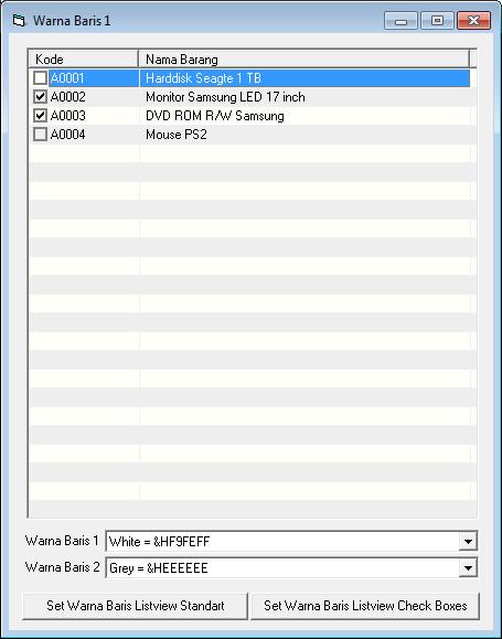Membuat Listview dengan Baris Berwarna VB6