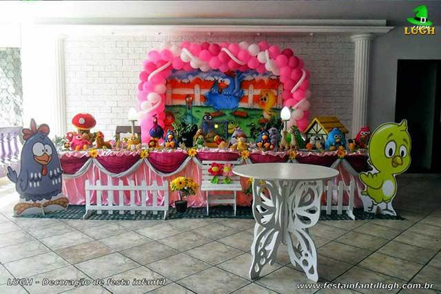 Decoração Tradicional Super-Luxo para aniversário infantil feminino Galinha Pintadinha