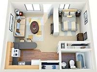 1 odalı banyolu ve mutfaklı döşeli stüdyo daire