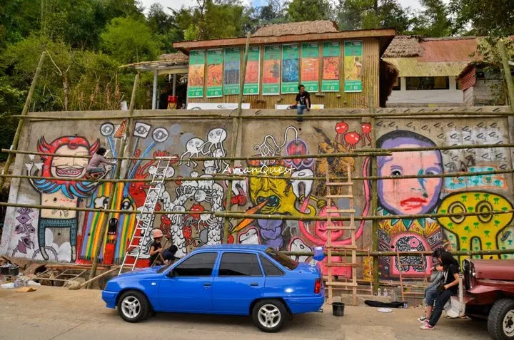 Tamawan Village Making of a Graffitti Mural Baguio City Philippines 17