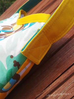 как сделать ручки для сумки из ткани