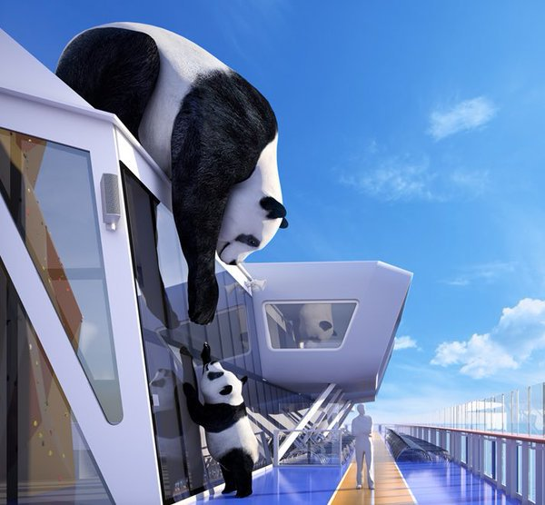 WATCH: Raising Panda Onto Ovation of the Seas in Southampton