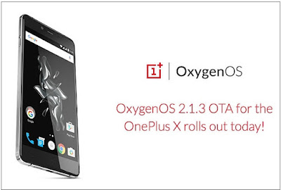 OnePlus X Oxygen OS Update 2.1.3 - mainly fixed issues with SD card