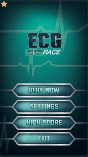 ECG race Game menu