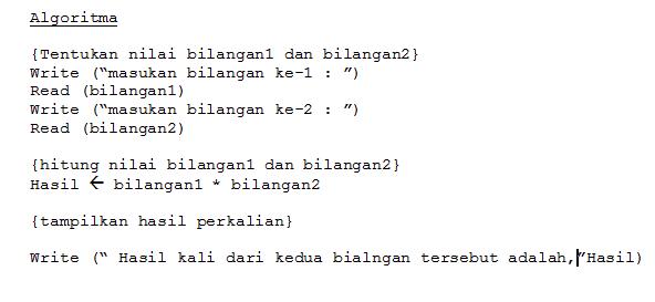 Notasi Algoritma dan Pemrograman