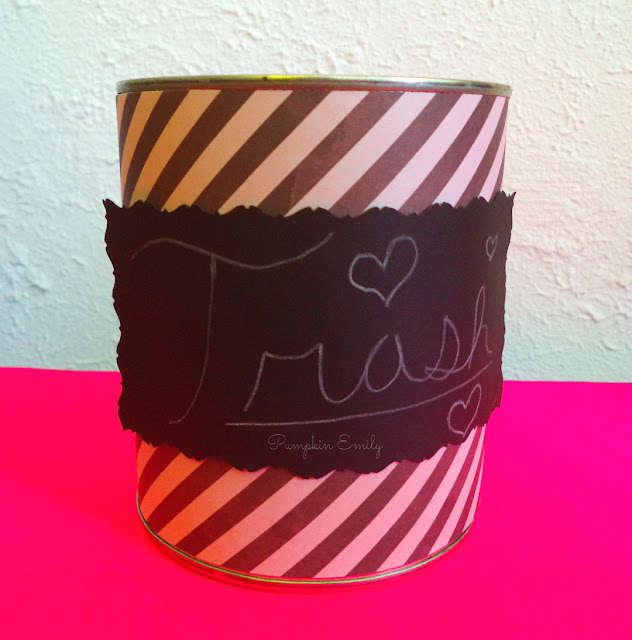 DIY Tin Can Trash Can