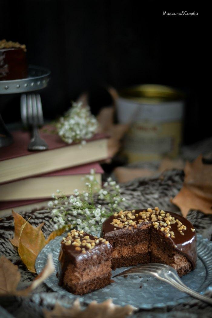 Manzana&Canela: Mini tartas de doble chocolate con cobertura de ...