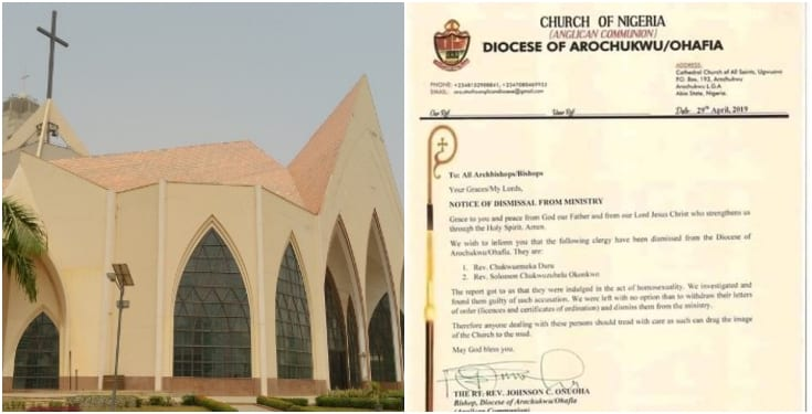 Church in Abia expels two homosexual priests