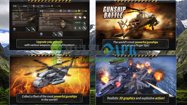 Game Gunship Battle: Helicopter 3D Versi 2.4.10 Apk Android Terbaru