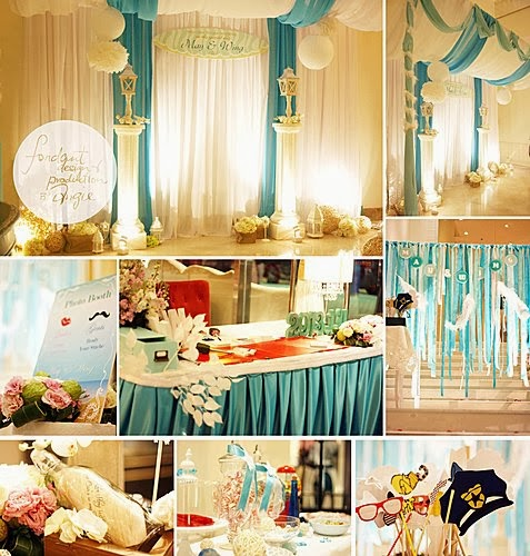 Wedding Decoration - Ocean Blue theme @La Dynastie Restaurant Cyber Port