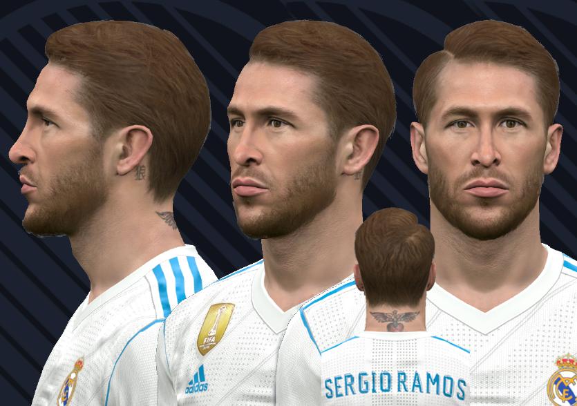 690446a0d PES 2017 Sergio Ramos face v2018 by WER Facemaker
