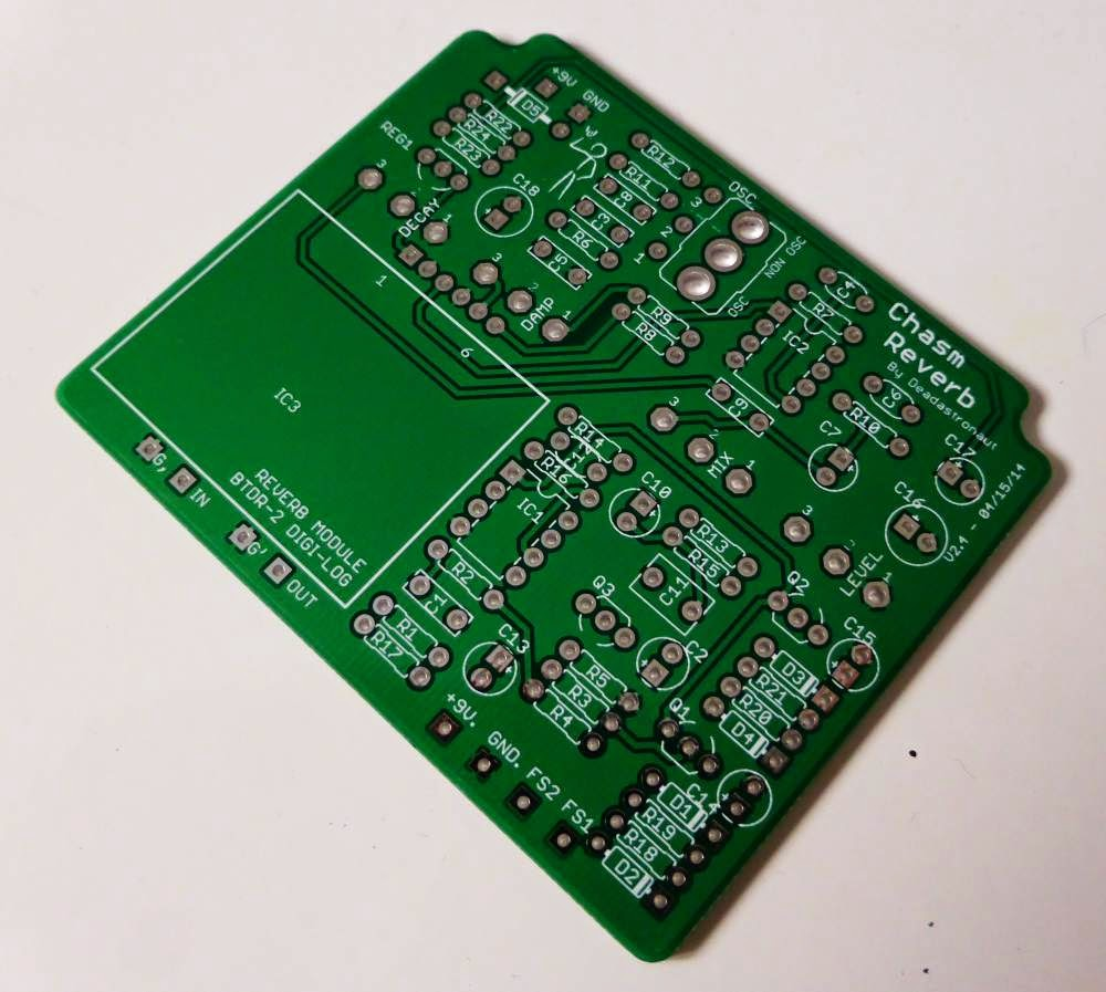 Chasm Reverb layout PCB