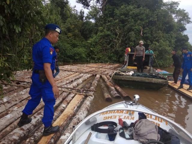 Ratusan Kayu Illegal Ditangkap Ditpolairud Polda Kalteng
