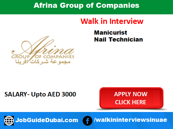 Job in Dubai for Manicurist and Nail Technician