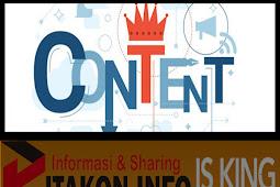 Kunci Sukses Menjadi Blogger - Kontent Is King