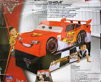 Tenda Disney PiXAR Cars 2 Lightning McQueen Vehicle